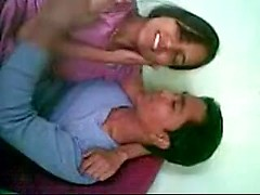 Young girlfriend Indian fucking on the floor