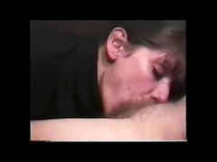 Skilled wife doing deepthroat blowjob and swallows boner from base to top