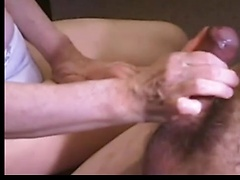 Expert handjob from a wife that knows how to make her man cum