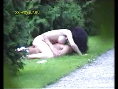 Extreme voyeur movie with amateurs fucking hard by the road