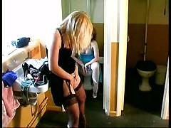 Two amateur matures in nice homemade lesbian video