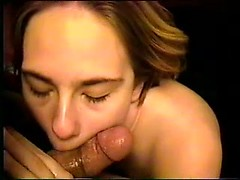 Sucking and stroking blonde cutie wants to feel warm cum on her pretty face