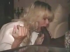 Married white milf sucks monstrous black cock as her husband films