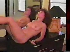Brunette retro wife toying her pussy and fingering ass hole