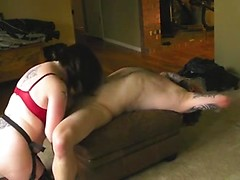 Porn plays on the computer as the horny couple has anal sex in homemade vid