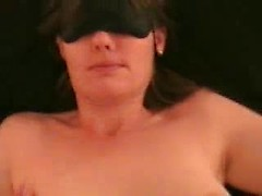 Amateur cute wife fixed, blinded and fucked for her first BDSM session