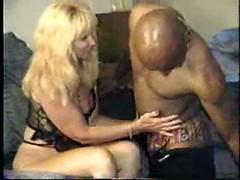 Hot black stud licks and fucks horny blonde mom till orgasm