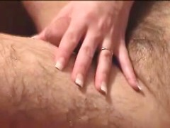 Horny wife drives mad of this chunky cock throbbing in her hands