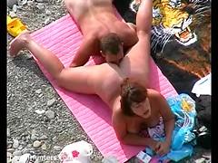Best beach sex with BBW amateur whore deepthroat sucking big hard cock