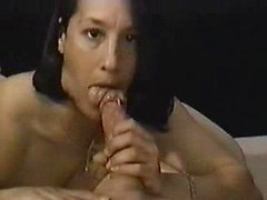 Kinky amateur wife Martha blowing big hard cock in POV on cam