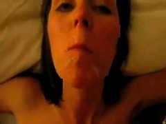 My kinky wife takes all my jizz in her mouth till the last drop