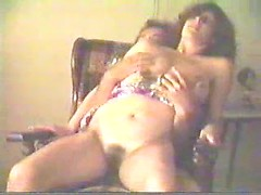 Cute vintage couple makes a homemade porn with a blowjob and dick riding