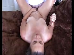 Horny amateur wife sucking and fucking cock till dirty creampie