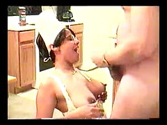 Lovely amateur wife in nurse suit sucks and fucks  my big cock